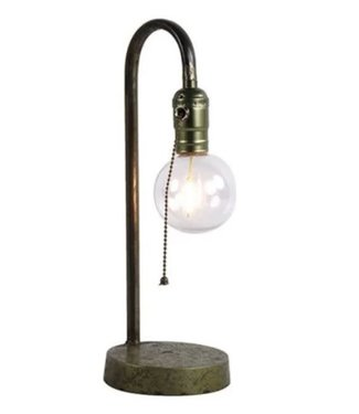 # J373 - tafellamp led kilian grijs - 12 x 12 x 35 cm