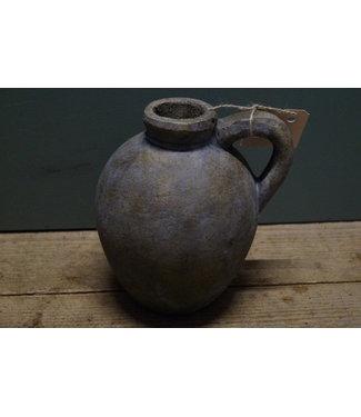 *kruik ro Bertus S grijs - 16,5 x 14 x 17,5 cm