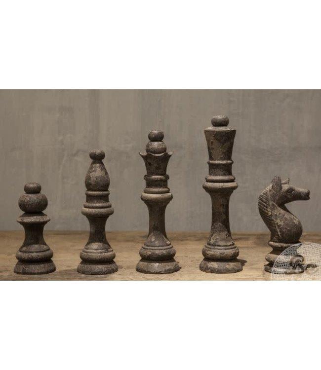 # Set 5 schaakstukken | Grey finish