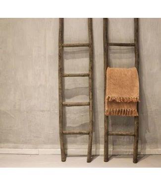 E905 - Houten ladder - grey finsh - wordt niet verzonden/alleen afhalen - 40 x 6 x 140 cm - per stuk