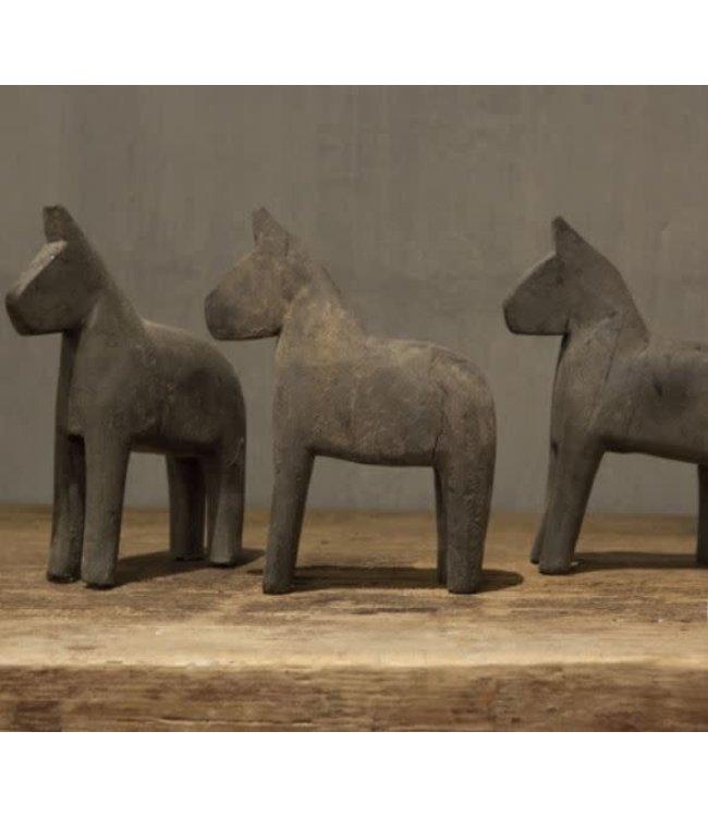 *Q349 - houten paard grey s - 14 x 4 x 19 cm - per stuk
