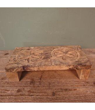 Houtsnijwerk bajot - ca. 31 x 15 x 7,5 cm per stuk