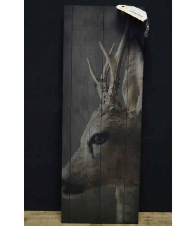 # J297 - hertje deco bord 20 x 55 cm