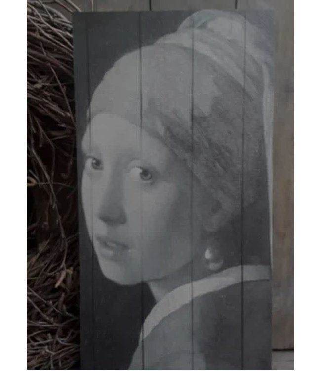 # A063 - meisje met de parel deco bord 20 x 55 cm