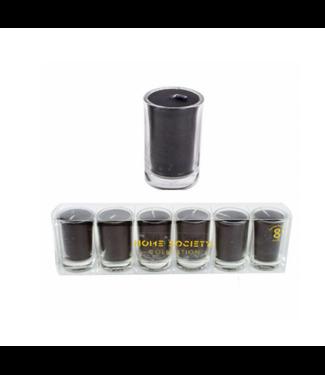 # Setje van 6 kaarsjes in glas - 20x3.5x5 cm