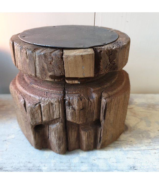 Candleholder Bijni - 10 - 11 x 11 x 12,5 cm
