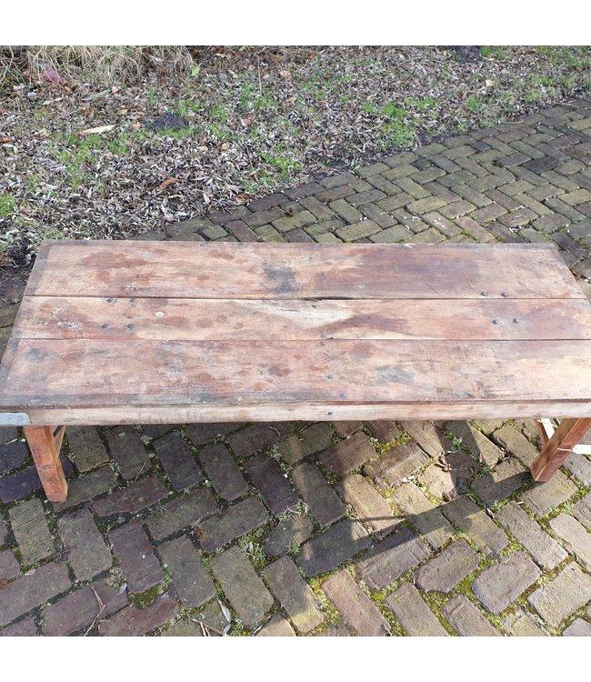 Markttafel - hout - 1 - 147 x 58 x 45 cm - wordt niet verzonden/alleen afhalen