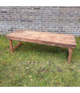 Markttafel - hout - 2 - 147 x 58 x 45 cm - wordt niet verzonden/alleen afhalen