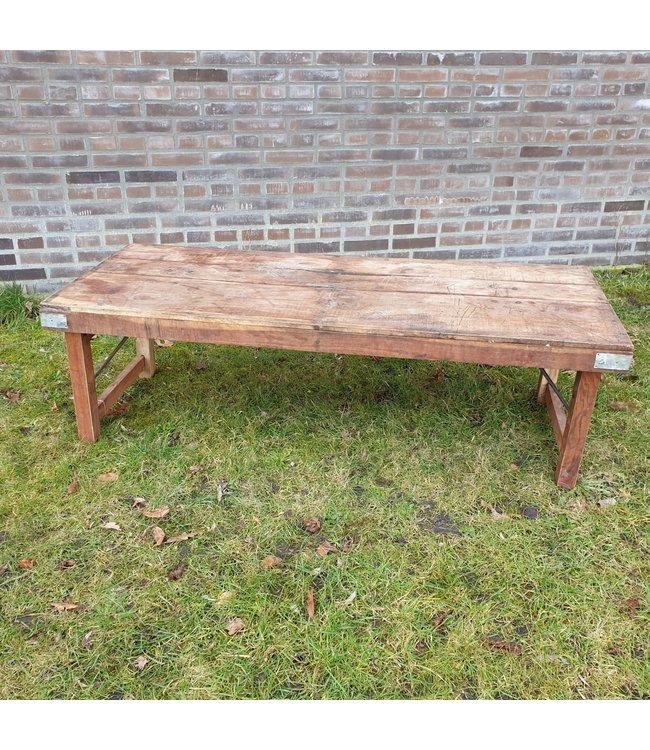 Markttafel - hout - 3 - 147 x 58 x 45 cm - wordt niet verzonden/alleen afhalen