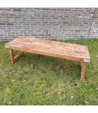 # Markttafel - hout - 4 - 147 x 58 x 45 cm - wordt niet verzonden/alleen afhalen