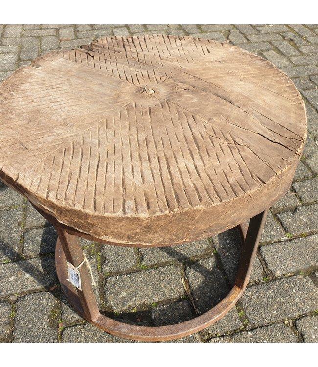 Ronde salontafel maalblok 5 - 60 x 60 x 47 cm - alleen afhalen-wordt niet verzonden