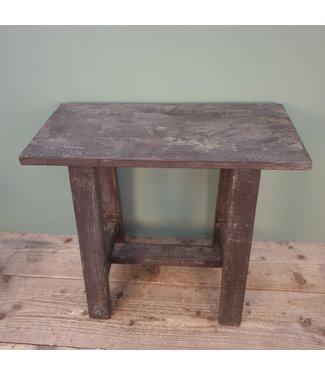 # Houten kruk - grey finish - 3 - 50 x 24 x 45 cm