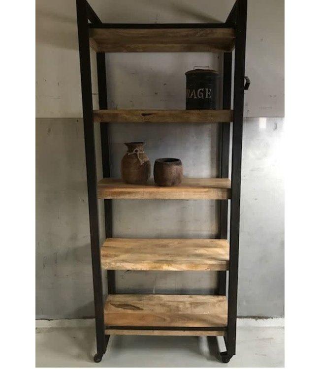 Bookshelf 5-L 85x40H205cm. (5292) - alleen afhalen/wordt niet verzonden