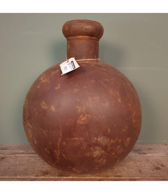 # Folklore fles bruin large - metaal - 1 - 29x18x38 cm