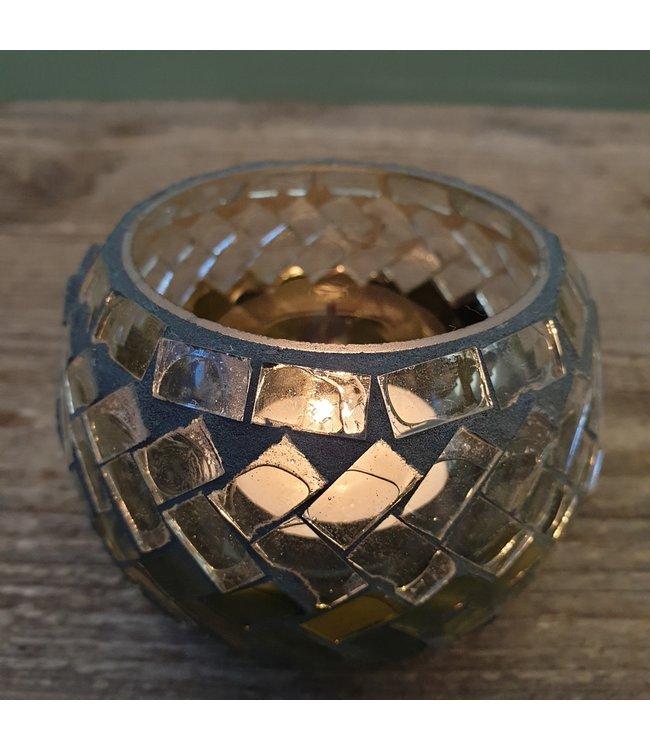 # Tealightholder - glass - 11 x 11 x 7 cm