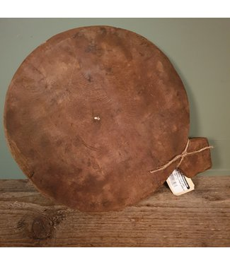 # Vintage home used wooden chapati plate with ear - 2 - 30 x 24 x 4 cm