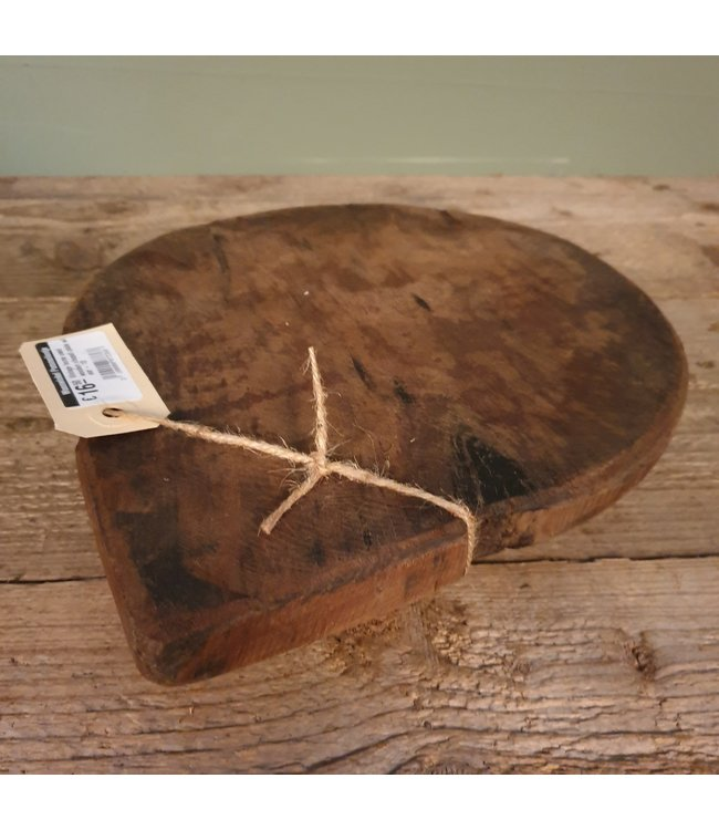 # Vintage home used wooden chapati plate with ear - 10 - 30 x 25 x 4 cm