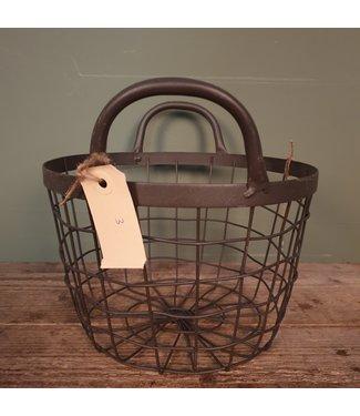 Basket ovaal - metaal  - klein - 25 x 25 x 23 cm