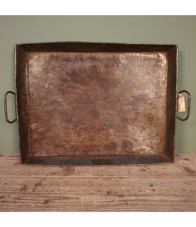 # A018 - metalen dienblad met handvatten - 64 x 41 x 6 cm