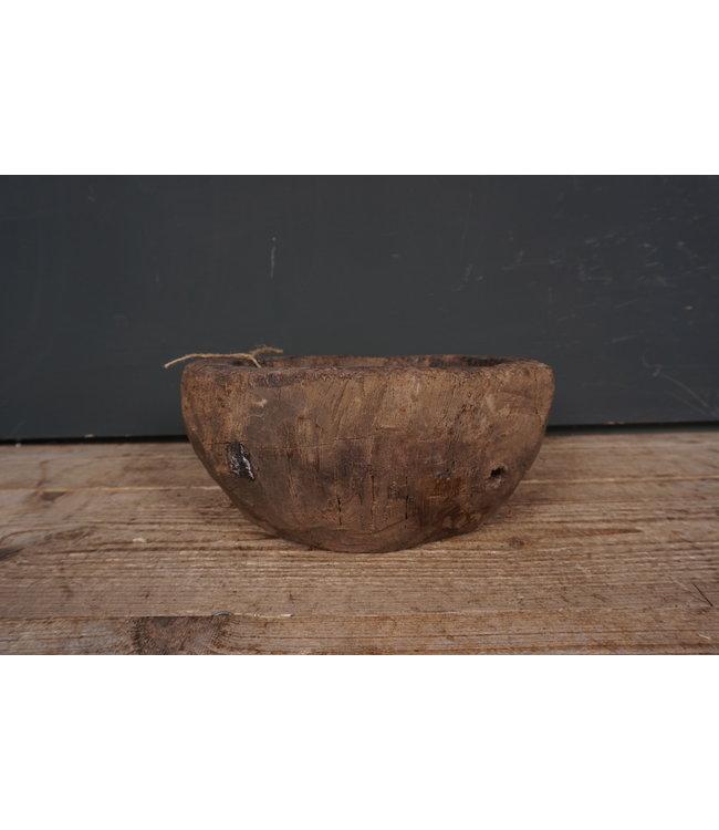 # Oude houten waterschaal - 6 - 26,5 x 26,5 x 11,5