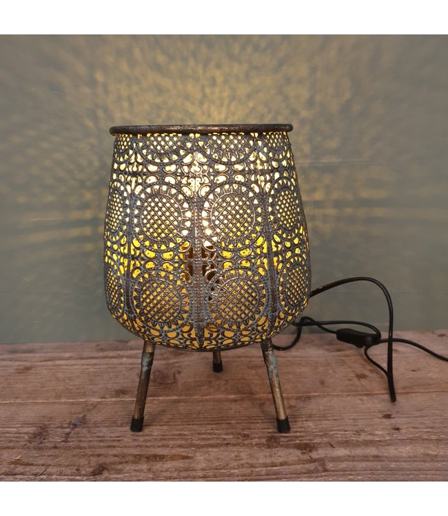 # lamp with legs metal - 20 x 20 x 31 cm