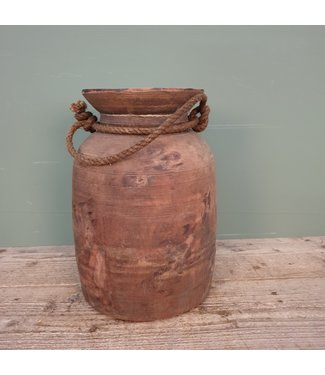 # Himachal pot old with rope - 9 - 20 x 20 x 33 cm