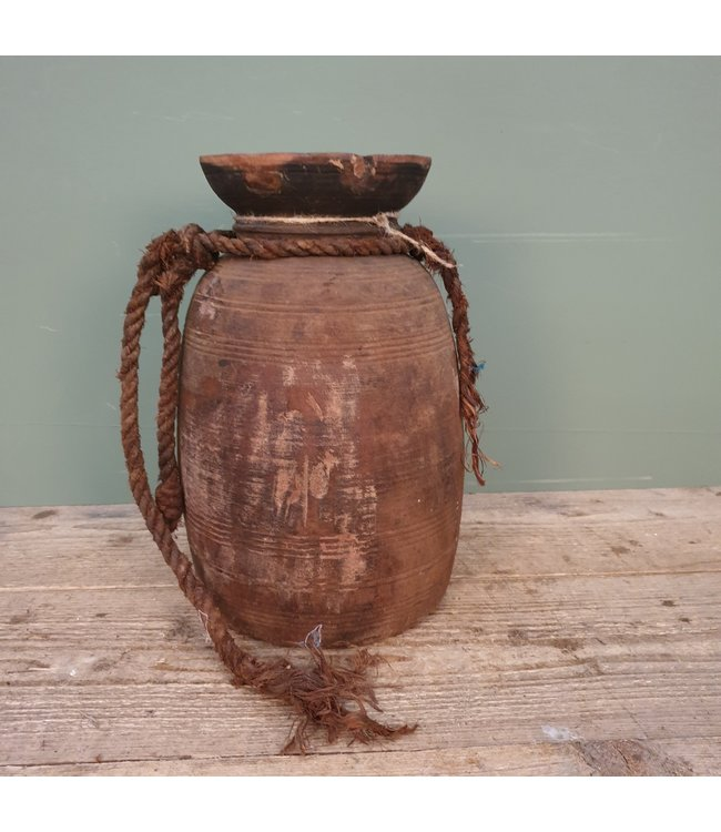 # Himachal pot old with rope - 5 - 17 x 17 x 33 cm