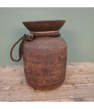 # Himachal pot old with rope - 6 - 20 x 20 x 31 cm