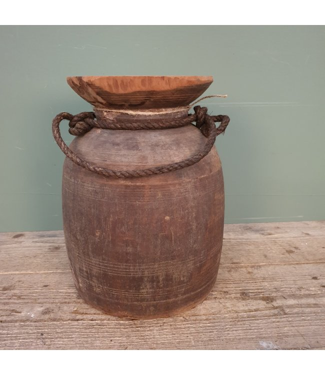 # Himachal pot old with rope - 11 - 20 x 20 x 31 cm
