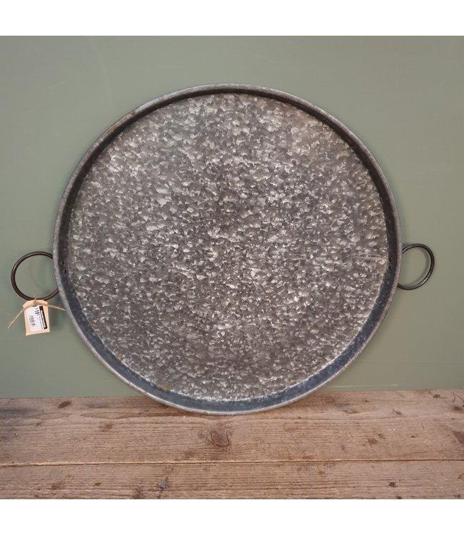 # Old iron round tray ears - 3 - 66 x 54 x 4 cm