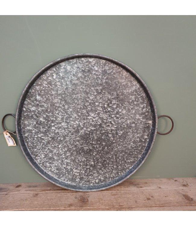 # Old iron round tray ears - 2 - 70 x 55 x 4 cm