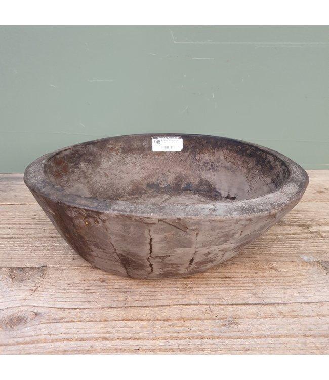 # Ronde houten schaal - 50 - 35 x 35 x 10 cm