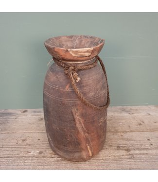 # Himachal pot old with rope - 10 - 19 x 19 x 38 cm