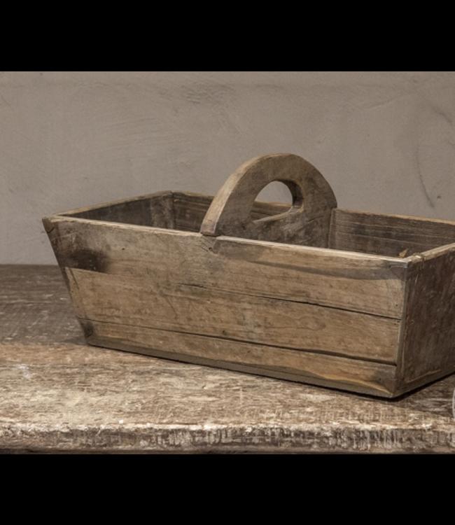 Graanbak met handvat - hout - 54 x 27 x 18 cm
