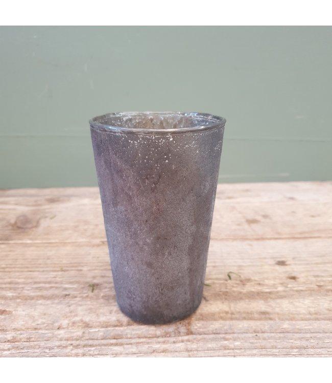 # Lara taper vase tonic grey 8x8x13 cm
