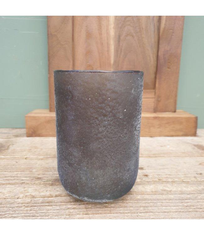 # Lara round tlight tonic grey 10x10x15 cm