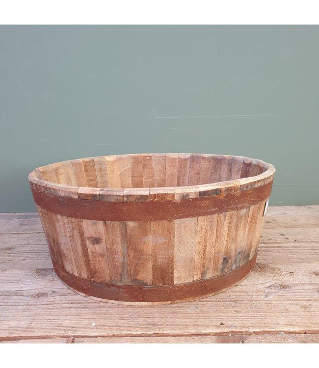 # Lara round planter iron nat. 44x44 x17cm
