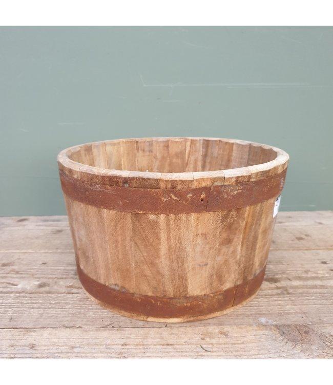 ( Lara round planter iron nat. 30x30x17 cm
