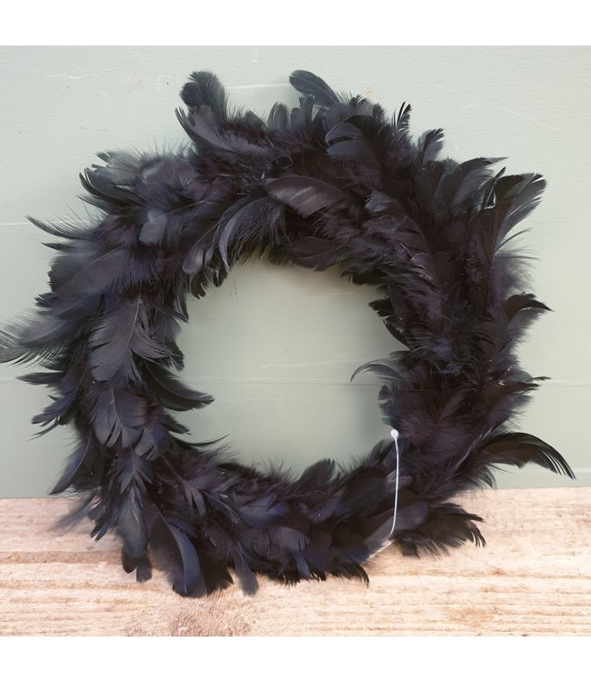 # I434 - wr. raven feather - 23 x 23 x 3 cm