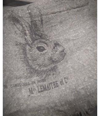 # J685- Doek Shabby - konijn - 30 x 45 cm