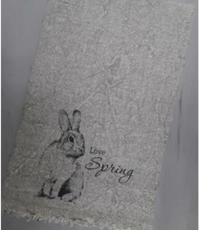 J687- Doek Shabby - love spring - 30 x 45 cm
