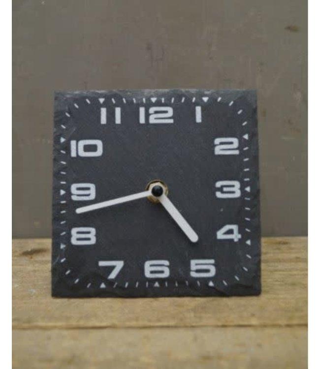 # W907 - Klok - leisteen - 13 x 4 x 13 cm