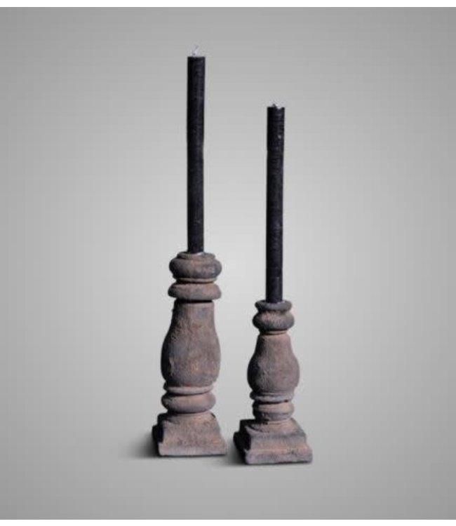 Brynxz # Brynxz - set van 2 aardewerk kandelaars - 8 x 20 cm en 8 x 25 cm