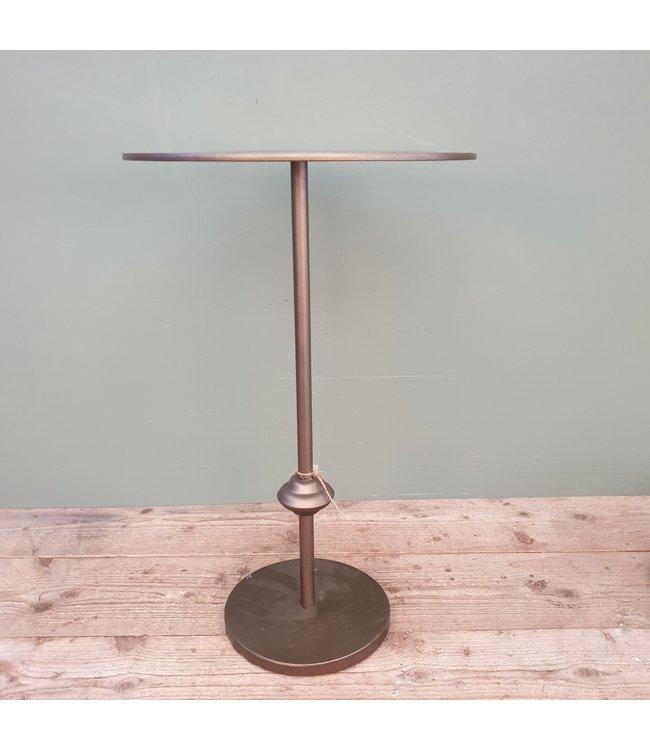 # J332 - bijzettafel kingston l grijs - metaal - 40 x 40 x 64 cm