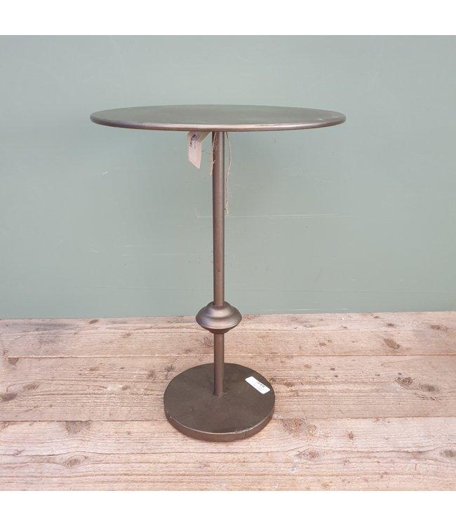 # J331 - bijzettafel kingston s grijs - metaal - 35 x 35 x 50,5 cm