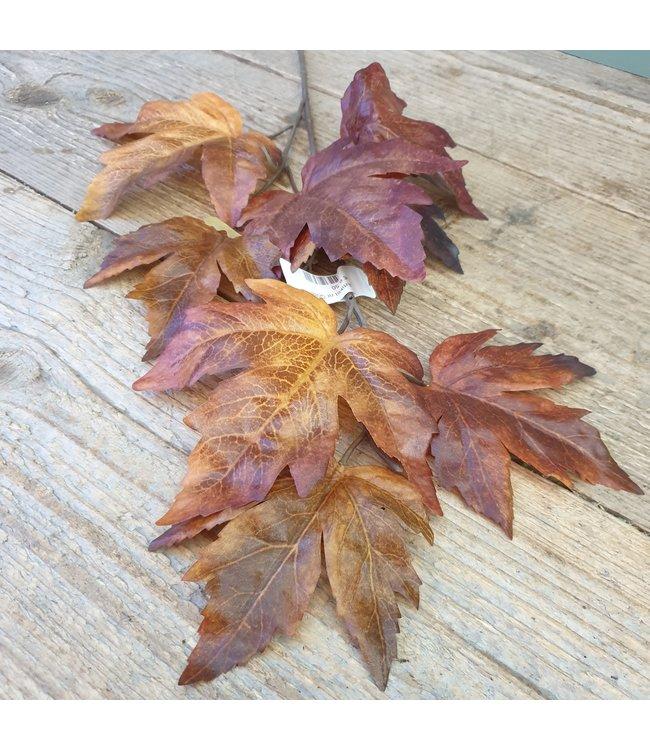 # q088 - Herfsttak bruin - kunst - 56 x 17 x 0,5 cm