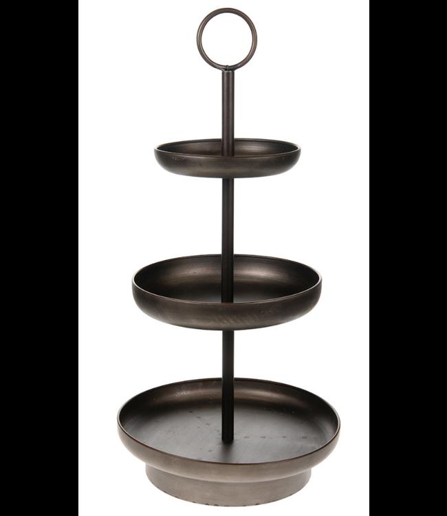 # Etagiere metal Ø30x61cm kd - Brown