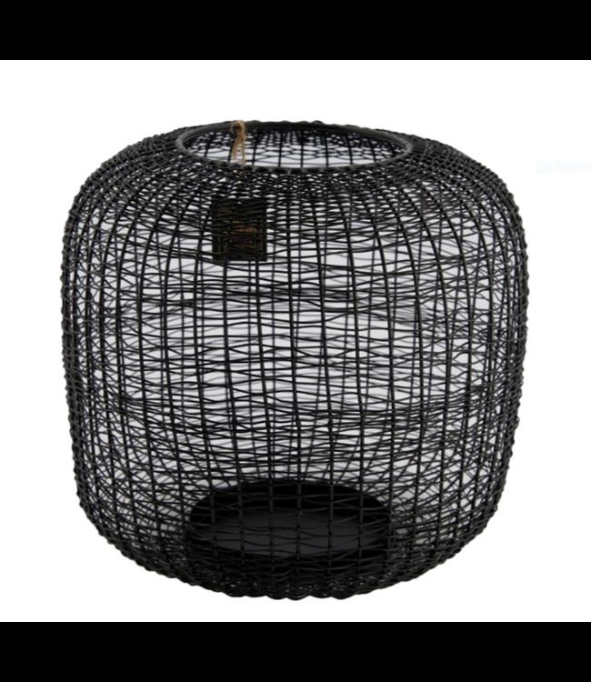 # Candle holder metal 23x11x21cm - Black