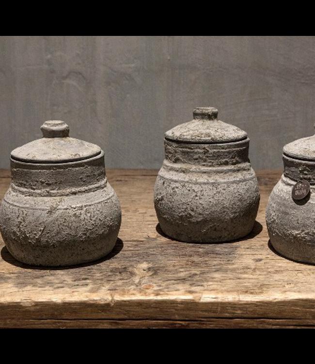 # Nepal Pottery | Asha - per stuk - 13 x 13 x 16 cm