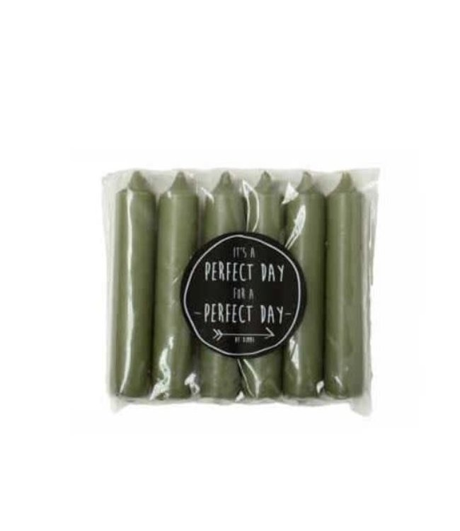 # B064 - Pakje met 6 kaarsjes van 2,1 x 12 cm - Thijm